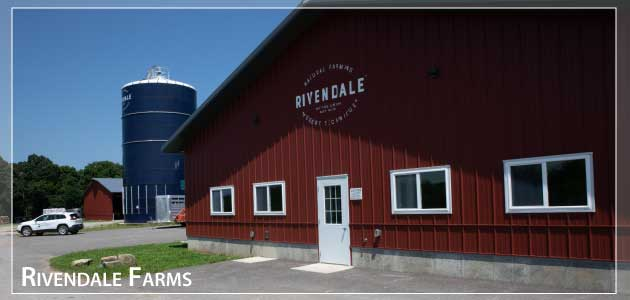 One of the barns and silos at Rivendale Farms after a job well done.
